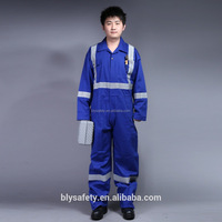 Safety long sleeve customized coveralls overall uniform work wear with reflective tape