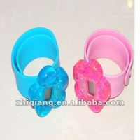 digital silicone slap wrist watch