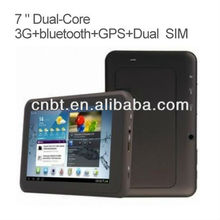 "7"" shenzhen tablet 3g sim card slot with blutooth and gps"