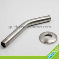 1/2 -14NPSM-2B stainless steel 304 shower arm with flange