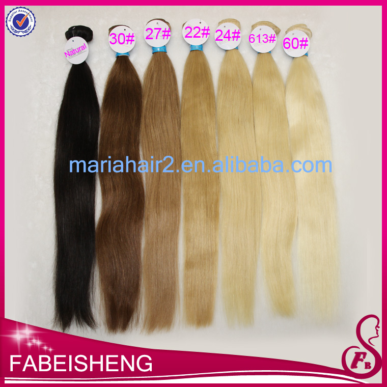 factory price blonde hair extensions 100% chestnut blonde hair color