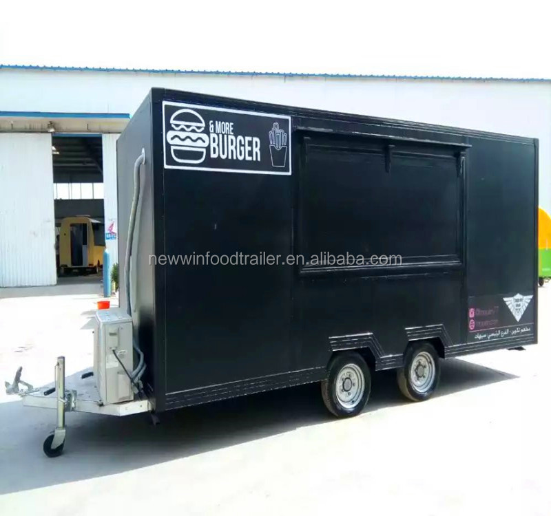 Hot sales mobile hamburgers fast trailer kiosk carts