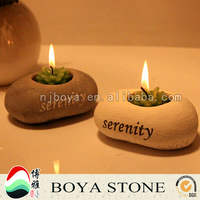 beautiful lighting candle holder or candle stand for romatic, stone made candle holder