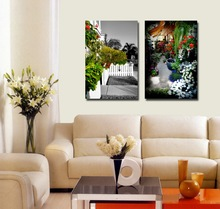 Home Goods Wall Art Garden Scenery Beautiful Flower Scenery Painting