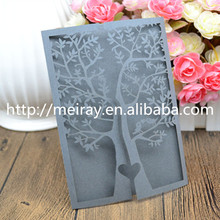 Laser cut rustic tree wedding invitation card Valentine's Day gifts and crafts