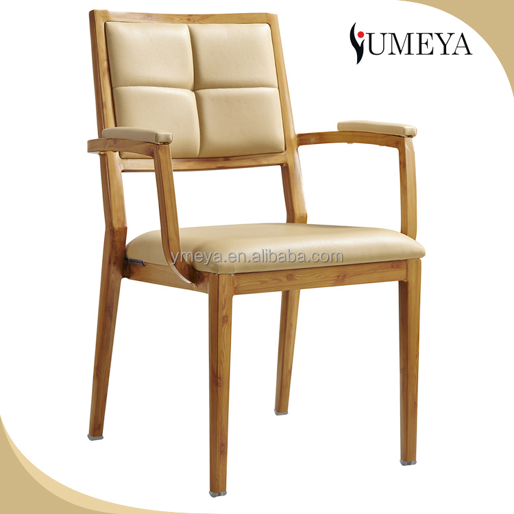 High quality furniture aluminum restaurant chair leather