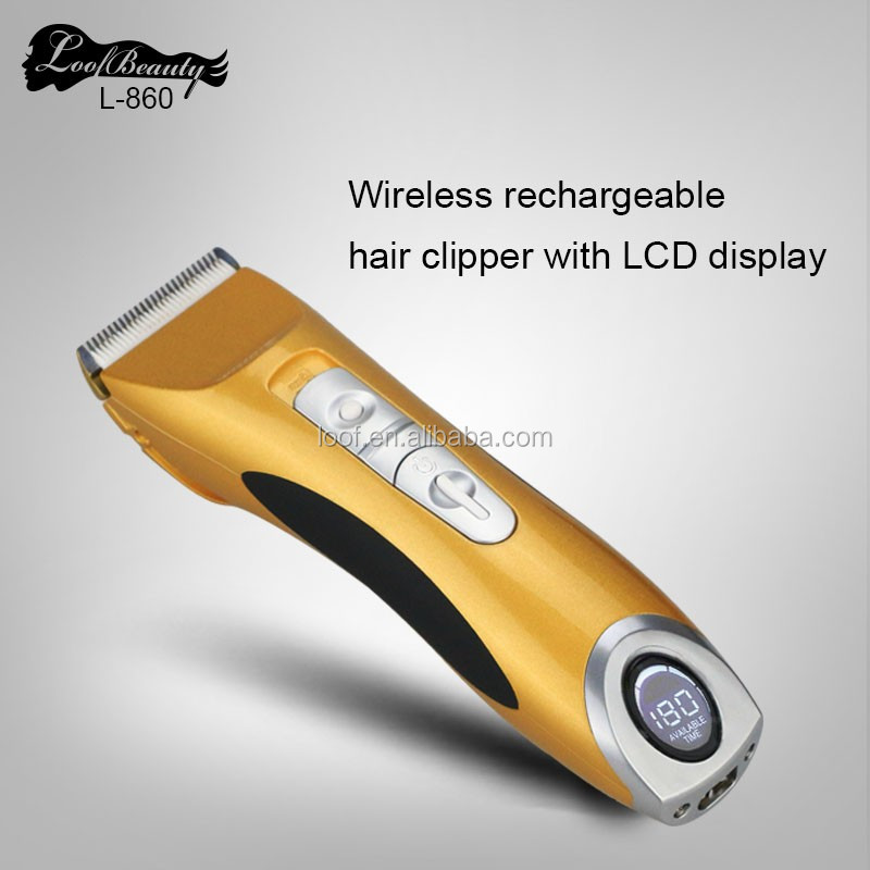 Patented adjustable mechanism hair clipper with titanium coated fixed blade
