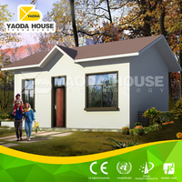 Folded portable house with apartment entry door
