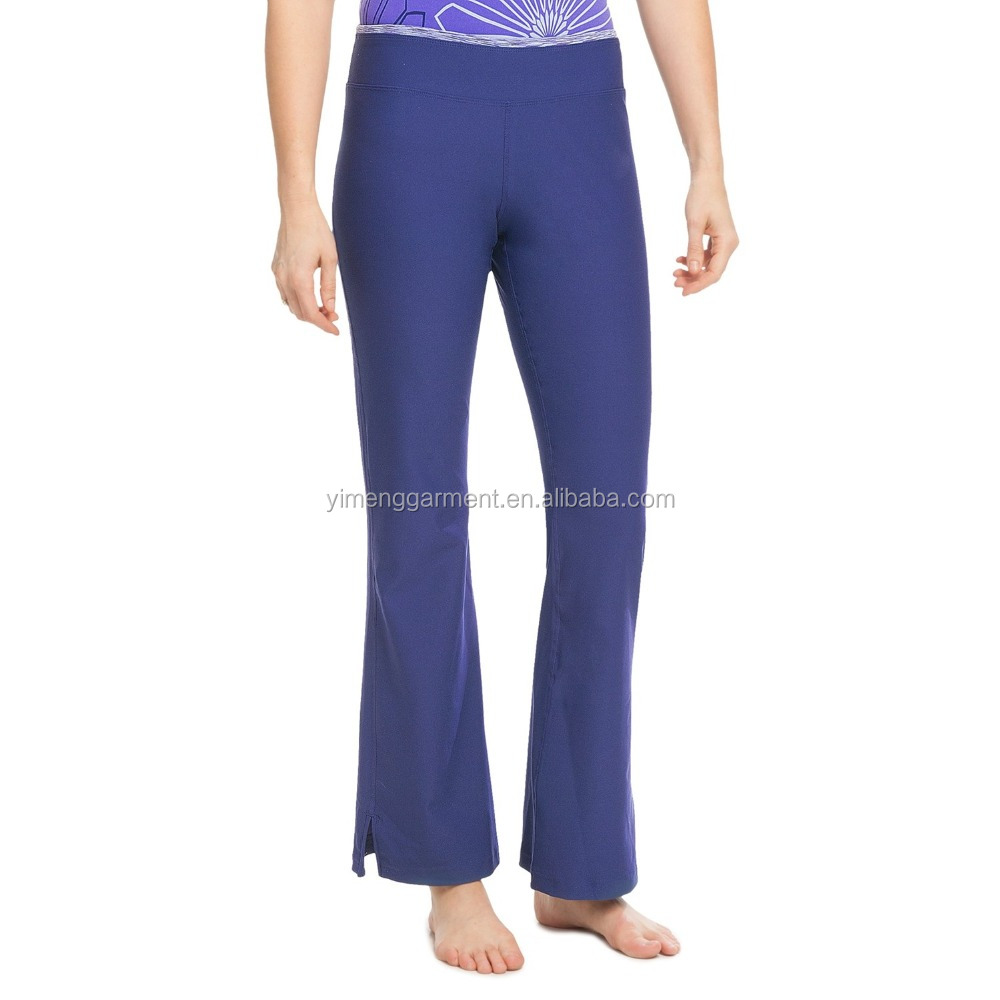 Wholesale custom cheap polyester spandex bamboo yoga pants