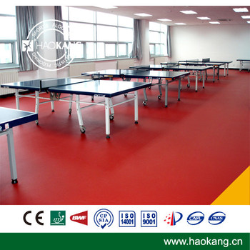 Superior Quality Blocks Texsure Table Tennis Court PVC Flooring