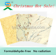 high quality high gloss UV coating marble grain fiber cement board specification for interior and exterior decoration