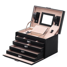 Wholesale Storage Mirrored Gift Jewellery Box,Luxury Pu Leather Jewelry Box