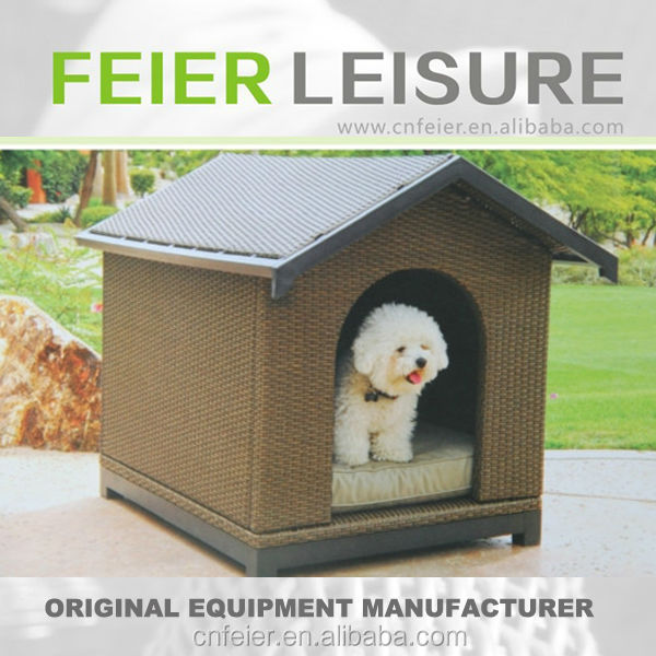 T6001CY Rattan Dog Cage Pet House