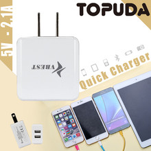 Wholesale Travel US Plug Wall Charger and USB Dual Output