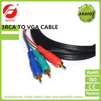 15pin vga male to 3rca male cable