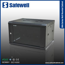 Safewell SMA series Single Section 600 Width 500 Depth Color Black 12U Wall mounted data cabinet