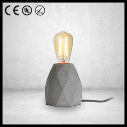 Hotel Concrete modern table lamp with edison bulbs