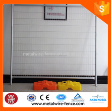 2016 new product plastic blow easily be installed retractable temporary fence