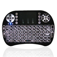 1Chip new arrival rechargeable wireless mouse and keyboard i8 pro 2.4g wireless rii mini backlit keyboard