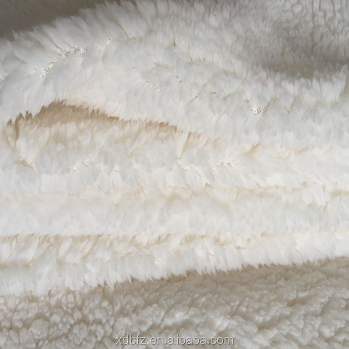 Faux Sherpa Sheepskin Fabric by 100% polyester
