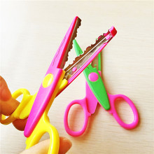 Eco-friendly kids scissors for DIY photo album handmade, 6 patterns laciness scissors innovative gift item