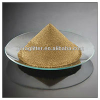 Cosmetic pearlescent pigment - glossy bronze flash powder