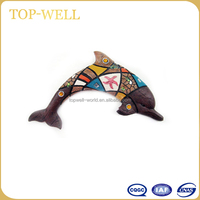 Popular polyresin wall hanging brown dolphin decor