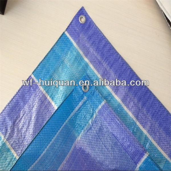 all kinds of color striped pe tarpaulin with high quality