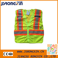 Make To Order Low Price Black Reflective Safety Vest