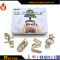 4 in 1 set Brain Teaser metal IQ Puzzle