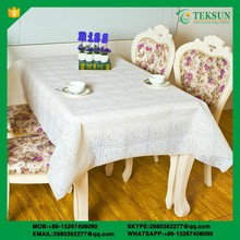 new trendy white plastic lace pvc dining table cloth