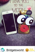 Fashion Cute Girl 3D Red Lips Big Eye Design Mirror Reflection PC Shell Cover For iPhone 6 6plus New Luxury Shinny Phone Cases