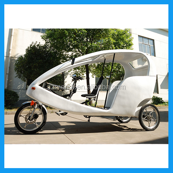 250watt Motor Battey Powered Bicycle Rickshaw, 6 Speed Touring Electric Bicitaxis Rickshaw