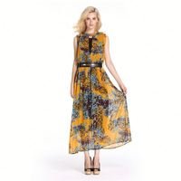 Leopard print wedding dress Chiffon maxi dress 2013 Batik print dress