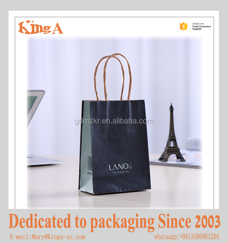 Customized design logo printing brand paper bag for decoration