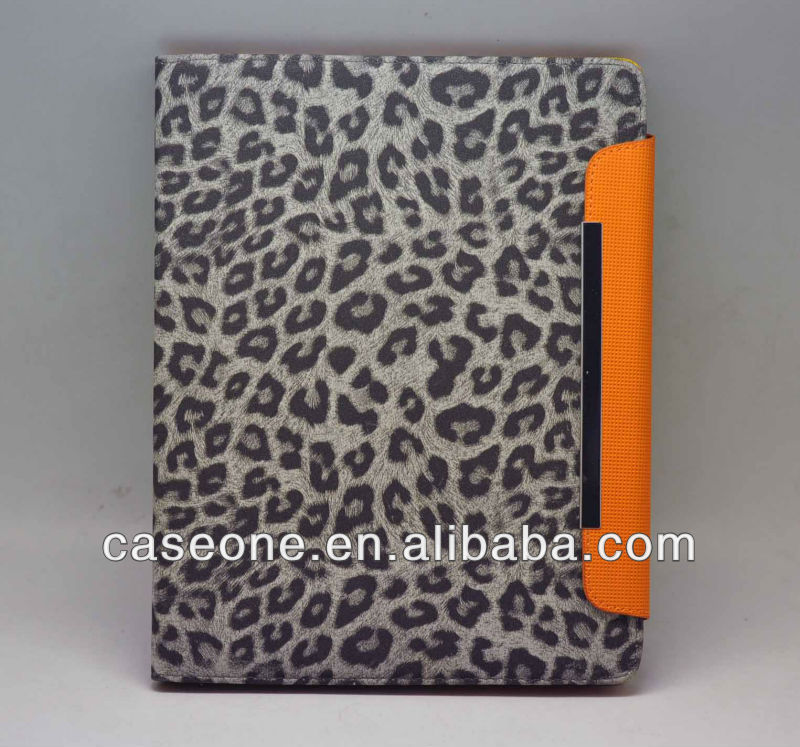 Leopard pattern leather case for iPad 2