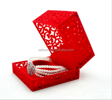 High quality cheap acrylic jewelry box decorated Christmas boxes
