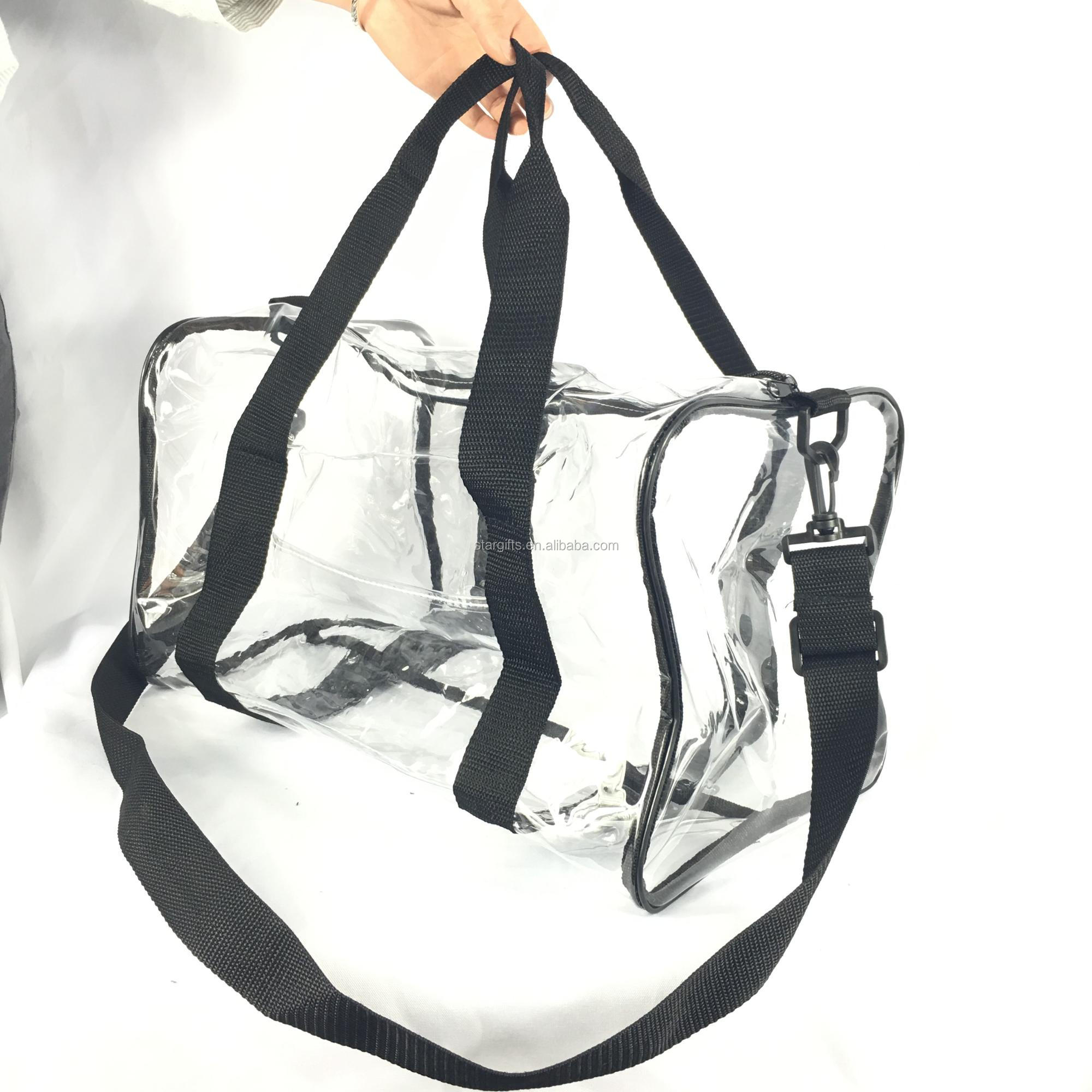 2018 Fashion Item Large Capacity Waterproof Transparent Duffle Bag