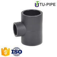 hdpe material socket pipe fittings equal tee for water supply