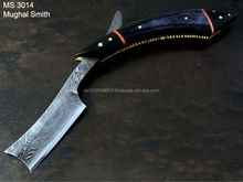 Damascus Handmade Razor/Horn handle razor/straight custom razor