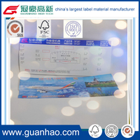 217gsm laminated thermal boarding pass material in jumbo rolls or slit rolls