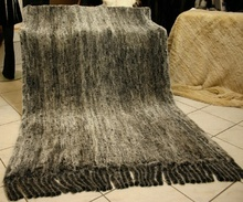 custom made accept knitted rex rabbit fur blanket FB19