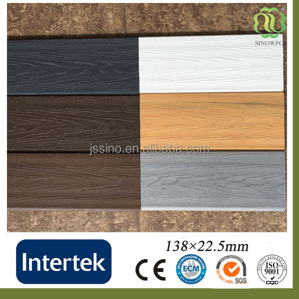 High quality EX-factory WPC Decking Outdoor Flooring co-extrusion wpc decking for swimming