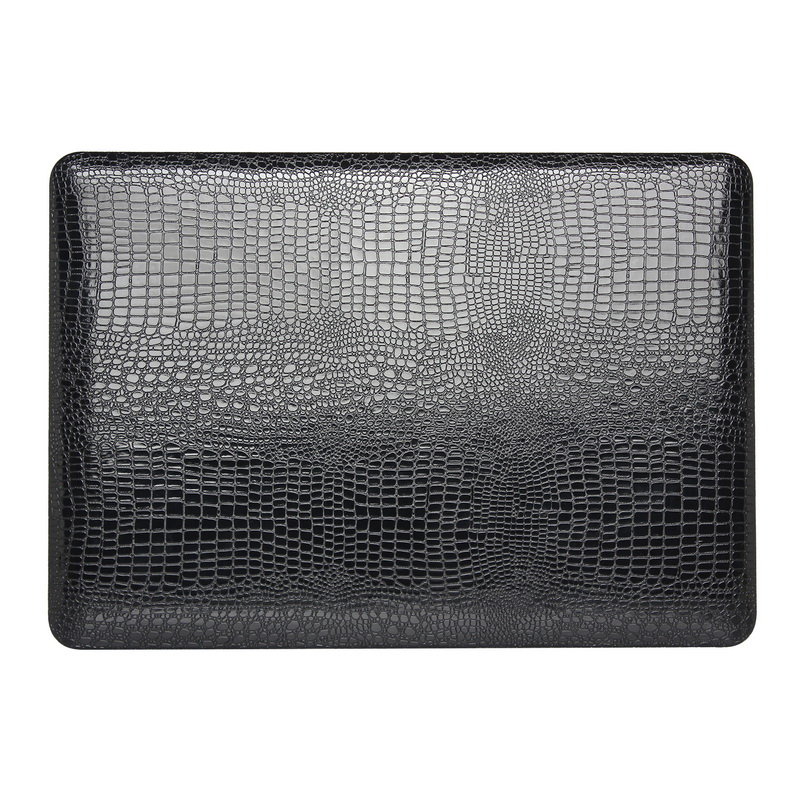 "Crocodile Leather Case Cover for MacBook Air 11"" Mac A1465 , Classic Black"
