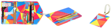 3D Sublimation Printing Travel set leather Passport holder wallet card holder luggage Tag