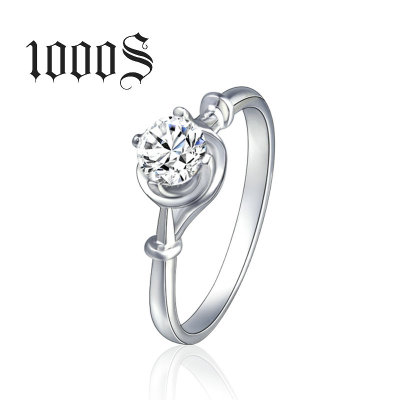 China Supply Silver Diamond CZ Stone Women's <strong>Ring</strong> With Rhodium Plating 925 Sterling Silver Wedding <strong>Ring</strong> for Women