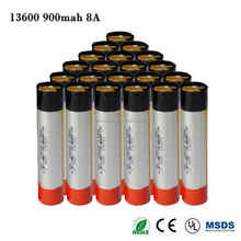 13600 rechargeable Battery 3.7V 900mAh Li-ion Flashlight Torch Battery manufacturers