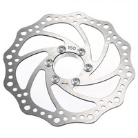 Bicycle Road Bike Disc Brake Rotor 160mm OD 34mm ID Silver