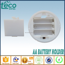 TBH-2A-3F Ningbo TECO 3 x 1.5V Round Battery Holder AA Panel Mounted with Cover