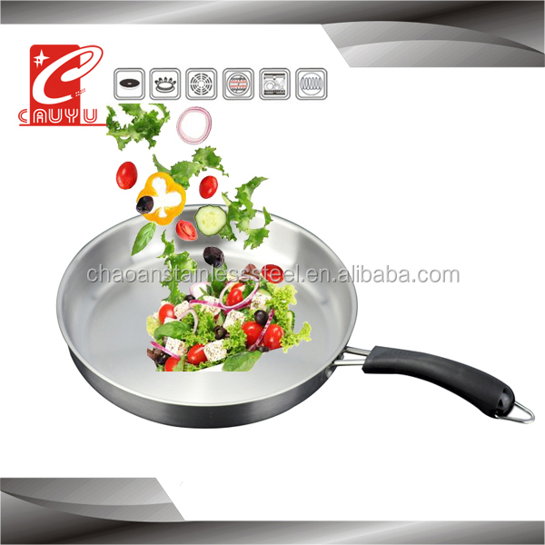 CYFP324-17 stainless steel houseware cooking pan for korean wok